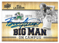BILL LAIMBEER NOTRE DAME FIGHTING IRISH AUTOGRAPHED BASKETBALL CARD #71820C