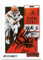 MYLES GARRETT CLEVELAND BROWNS AUTOGRAPHED FOOTBALL CARD #72420F
