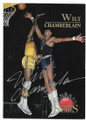 WILT CHAMBERLAIN LOS ANGELES LAKERS AUTOGRAPHED BASKETBALL CARD #72620B