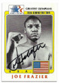 JOE FRAZIER AUTOGRAPHED VINTAGE OLYMPIC BOXING CARD #72720B