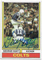 GEORGE HUNT BALTIMORE COLTS AUTOGRAPHED VINTAGE ROOKIE FOOTBALL CARD #72920A
