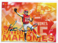 PATRICK MAHOMES KANSAS CITY CHIEFS AUTOGRAPHED ROOKIE FOOTBALL CARD #73020D