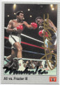 MUHAMMAD ALI & JOE FRAZIER DOUBLE AUTOGRAPHED BOXING CARD #73120F