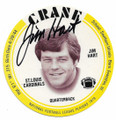 JIM HART ST LOUIS CARDINALS AUTOGRAPHED VINTAGE DISC FOOTBALL CARD #80120D
