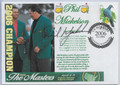 PHIL MICKELSON AUTOGRAPHED MASTERS STAMPED ENVELOPE #80120E