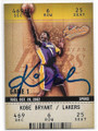 KOBE BRYANT LOS ANGELES LAKERS AUTOGRAPHED BASKETBALL CARD #80220E