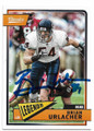 BRIAN URLACHER CHICAGO BEARS AUTOGRAPHED FOOTBALL CARD #80520D