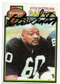 OTIS SISTRUNK OAKLAND RAIDERS AUTOGRAPHED VINTAGE FOOTBALL CARD #81020F