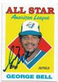 GEORGE BELL TORONTO BLUE JAYS AUTOGRAPHED VINTAGE ALL STAR BASEBALL CARD #81120D