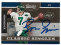 BOOMER ESIASON NEW YORK JETS AUTOGRAPHED FOOTBALL CARD #81220C