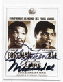 GEORGE FOREMAN & MUHAMMAD ALI DOUBLE AUTOGRAPHED BOXING CARD #81220F