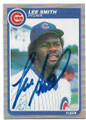 LEE SMITH CHICAGO CUBS AUTOGRAPHED VINTAGE BASEBALL CARD #81420B