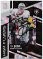 TIM BROWN OAKLAND RAIDERS AUTOGRAPHED FOOTBALL CARD #81520C