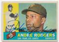 ANDRE RODGERS SAN FRANCISCO GIANTS AUTOGRAPHED VINTAGE BASEBALL CARD #81620E