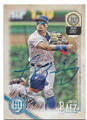 JAVIER BAEZ CHICAGO CUBS AUTOGRAPHED BASEBALL CARD #81820A