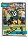 AARON RODGERS GREEN BAY PACKERS AUTOGRAPHED FOOTBALL CARD #81920A