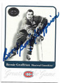 BERNIE GEOFFRION MONTREAL CANADIENS AUTOGRAPHED HOCKEY CARD #81920E