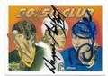 MARIO LEMIEUX, WAYNE GRETZKY & BRETT HULL TRIPLE AUTOGRAPHED HOCKEY CARD #82020F