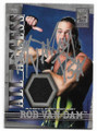 ROB VAN DAM AUTOGRAPHED PIECE OF THE GAME WRESTLING CARD #82120F