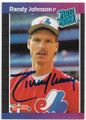 RANDY JOHNSON MONTREAL EXPOS AUTOGRAPHED ROOKIE BASEBALL CARD #82520F