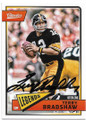 TERRY BRADSHAW PITTSBURGH STEELERS AUTOGRAPHED FOOTBALL CARD #83020C