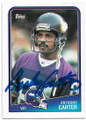 ANTHONY CARTER MINNESOTA VIKINGS AUTOGRAPHED VINTAGE FOOTBALL CARD #83020F