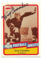 TONY CANADEO GREEN BAY PACKERS AUTOGRAPHED VINTAGE FOOTBALL CARD #90120C