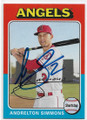 ANDRELTON SIMMONS LOS ANGELES ANGELS OF ANAHEIM AUTOGRAPHED BASEBALL CARD #90320E