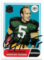 PAUL HORNUNG GREEN BAY PACKERS AUTOGRAPHED FOOTBALL CARD #90720D