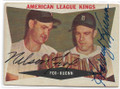 NELLIE FOX & HARVEY KUENN CHICAGO WHITE SOX & DETROIT TIGERS DOUBLE AUTOGRAPHED VINTAGE BASEBALL CARD #90820B