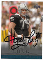 HOWIE LONG LOS ANGELES RAIDERS AUTOGRAPHED FOOTBALL CARD #90920C
