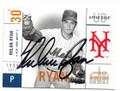 NOLAN RYAN NEW YORK METS AUTOGRAPHED BASEBALL CARD #90920E