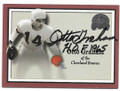 OTTO GRAHAM CLEVELAND BROWNS AUTOGRAPHED FOOTBALL CARD #91220B