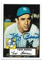 YOGI BERRA NEW YORK YANKEES AUTOGRAPHED BASEBALL CARD #91220C