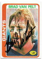 BRAD VAN PELT NEW YORK GIANTS AUTOGRAPHED VINTAGE FOOTBALL CARD #91220D