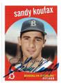 SANDY KOUFAX BROOKLYN DODGERS AUTOGRAPHED BASEBALL CARD #91220E