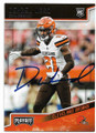 DENZEL WARD THE CLEVELAND BROWNS AUTOGRAPHED ROOKIE FOOTBALL CARD #91320A