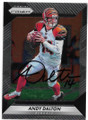 ANDY DALTON CINCINNATI BENGALS AUTOGRAPHED FOOTBALL CARD #91420B