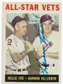 NELLIE FOX & HARMON KILLEBREW CHICAGO WHITE SOX & MINNESOTA TWINS DOUBLE AUTOGRAPHED VINTAGE BASEBALL CARD #91520A