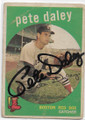 PETE DALEY BOSTON RED SOX AUTOGRAPHED VINTAGE BASEBALL CARD #91620B