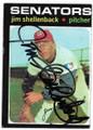JIM SHELLENBACK WASHINGTON SENATORS AUTOGRAPHED VINTAGE BASEBALL CARD #91620C