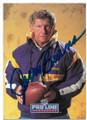 JERRY BURNS MINNESOTA VIKINGS AUTOGRAPHED FOOTBALL CARD #92020E