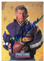 JERRY BURNS MINNESOTA VIKINGS AUTOGRAPHED FOOTBALL CARD #92020E
