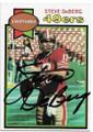 STEVE DeBERG SAN FRANCISCO 49ers AUTOGRAPHED VINTAGE FOOTBALL CARD #92120C