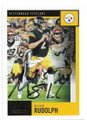 MASON RUDOLPH PITTSBURGH STEELERS AUTOGRAPHED FOOTBALL CARD #92120D