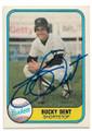 BUCKY DENT NEW YORK YANKEES AUTOGRAPHED VINTAGE BASEBALL CARD #92620B