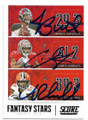 JAMEIS WINSTON, CHRIS GODWIN & NICK CHUBB TAMPA BAY BUCCANEERS & CLEVELAND BROWNS TRIPLE AUTOGRAPHED FOOTBALL CARD #100820E