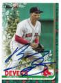 RAFAEL DEVERS BOSTON RED SOX AUTOGRAPHED BASEBALL CARD #101120B