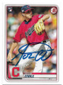 AARON CIVALE CLEVELAND INDIANS AUTOGRAPHED ROOKIE BASEBALL CARD #101120E