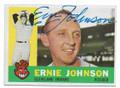 ERNIE JOHNSON CLEVELAND INDIANS AUTOGRAPHED VINTAGE BASEBALL CARD #101420F